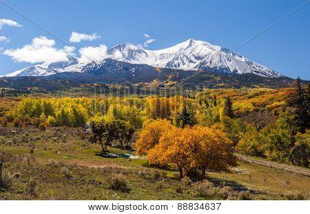 Colorful Colorado Mountain In Autumn