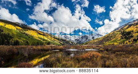 Colorful Colorado Mountain In Fall