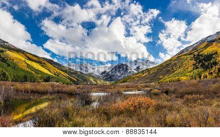 Colorful Colorado Mountain In Fall