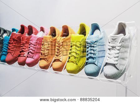 Adidas Originals Sneakers In A Shoe Store