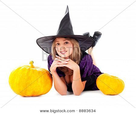 Fairy With Pumpkins