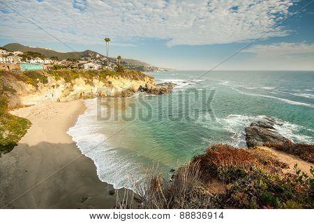 Beach House At Laguna Beach, California
