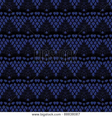 Black and blue lace seamless stripes pattern.