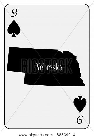 Usa Playing Card 9 Spades