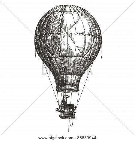 aerostat, balloon on a white background