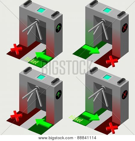 Isometric Tripod Gate