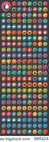 200+ Media Icons, Web Icons, Arrow Icons, Setting Icons, Cloud Icons, Finance Icons, Mobile Icons