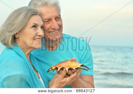 Senior couple on vacation