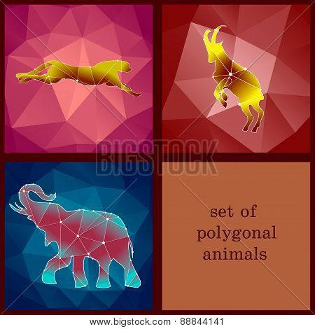 Set Of Polygonal Animals