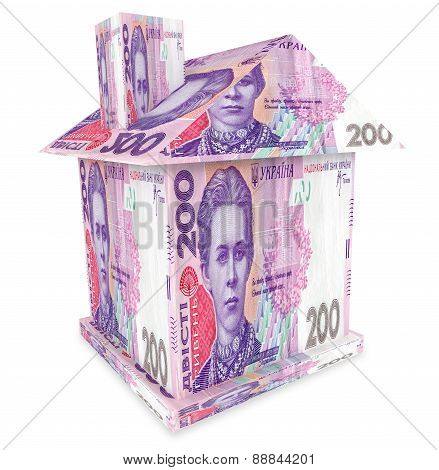 House From Ukrainian Money Hryvnia
