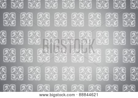 gray embroidered pattern