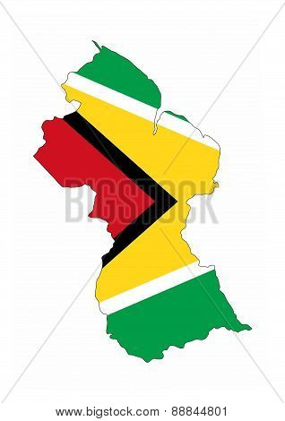Guyana Flag Map