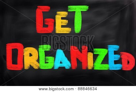 Get Organized Concept