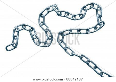 Chain On White