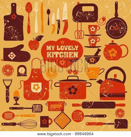 Kitchen Icons Set Of Tools