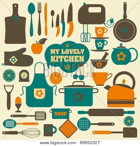 Kitchen Vector Background
