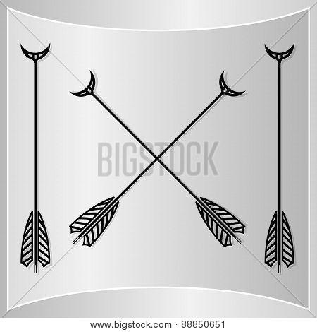 Bow Arrows Silhouette