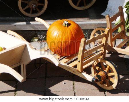 Pumpkin On A Barrow