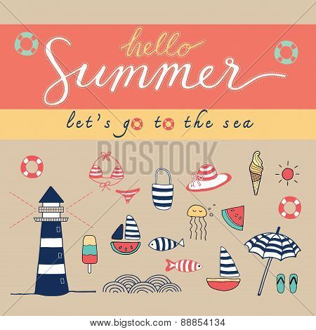 Hello Summer Colorful