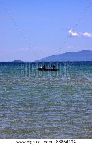 Boat In Nosy Mamoko Madagascar