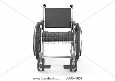 Black Empty Wheelchair  - Front