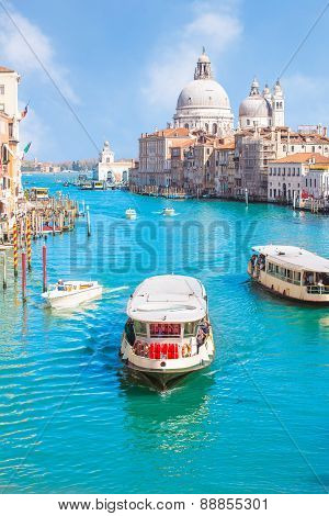Summer At Grand Canal In Venice, Italy