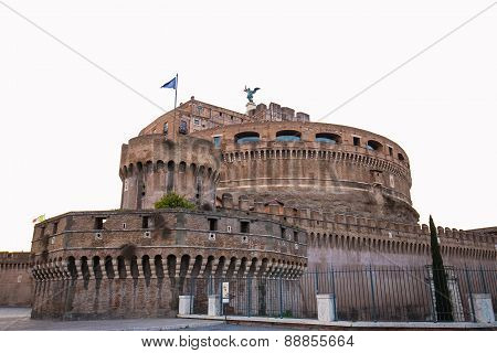 The Isolated Of Castel Sant Angelo The Landmark Of Rome, Italy