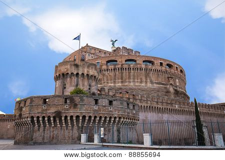 View Of Castel Sant Angelo The Landmark Of Rome, Italy