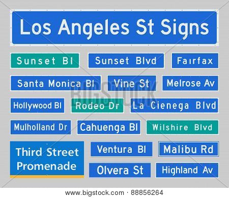 Los Angeles Street Signs