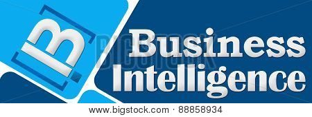 BI - Business Intelligence Two Blue Squares