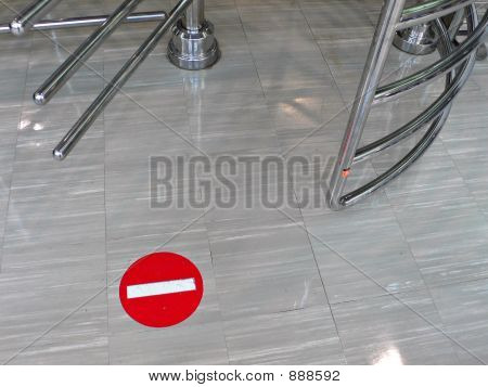 Stop Sign On The Floor