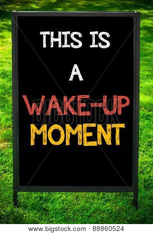 This Is A Wake-up Moment
