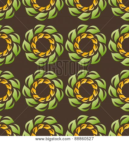 Colorful Seamless Abstract Flowers Tile Background