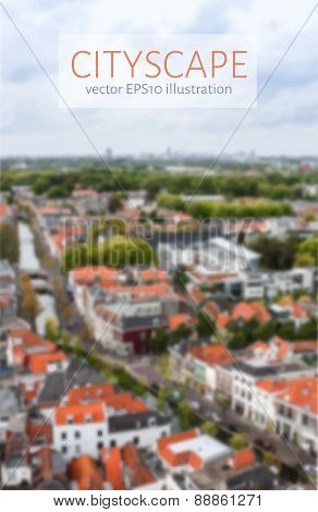Cityscape Blurred Image