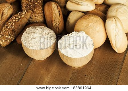 Whole And White Wheat Bread