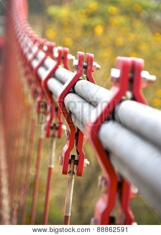 The closeup of bundle cables