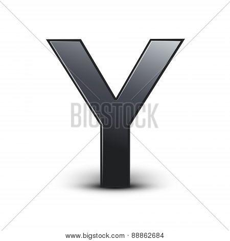 3D Black Letter Y