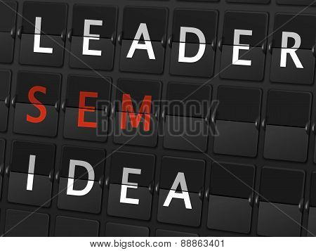 Leader Sem Idea Words On Airport Board