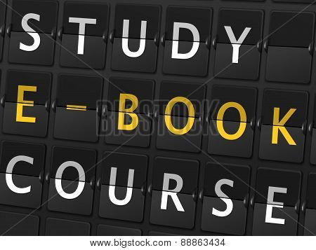 Study E-book Course Words On Airport Board