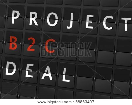 Project B2C Deal Words On Airport Board