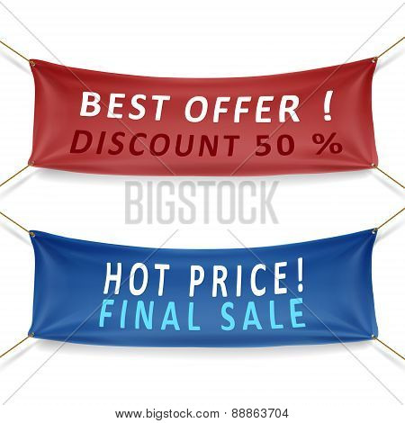 Best Offer Discounts And Hot Price Final Sale Banners
