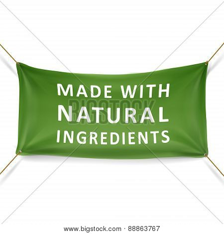 Made With Natural Ingredients Banner