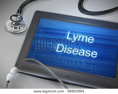 Lyme Disease Words Displayed On Tablet