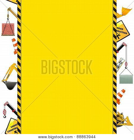 Vector Construction Frame With Machinery