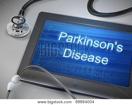 Parkinson's Disease Words Displayed On Tablet