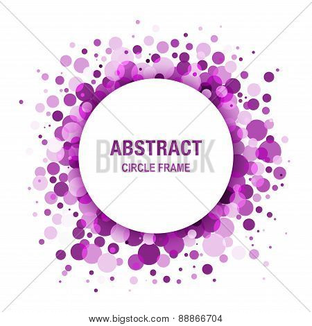 Purple - Violet Abstract Circle Frame Design Element
