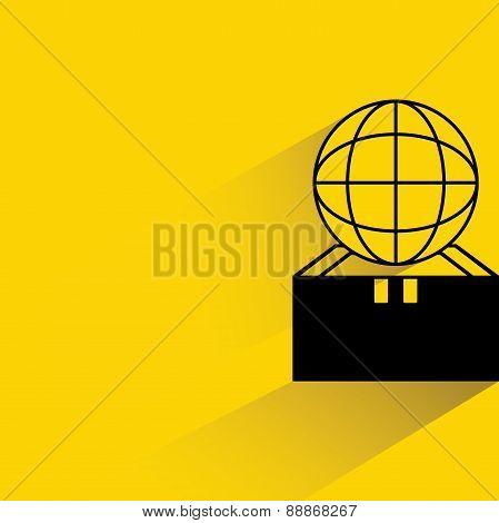 globe and box