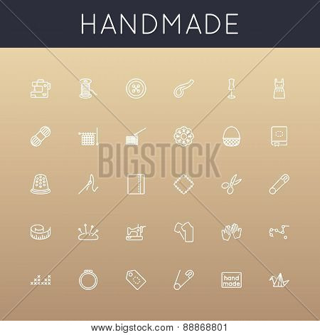 Vector Handmade Line Icons