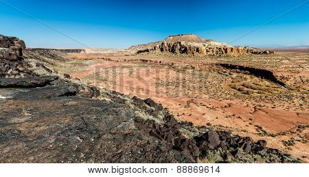 A High Resolution Panoramic View Of A Beautiful Wild Western Canyon