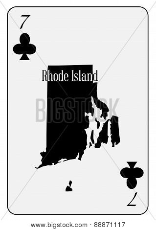 Usa Playing Card 7 Clubs